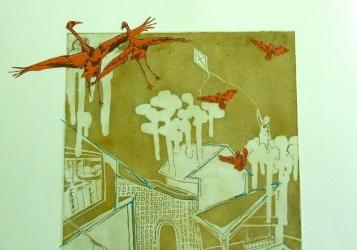 """""""Kite Flyer"""" Detail 2"""