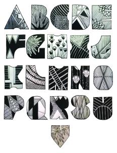 Pattern Block Typography