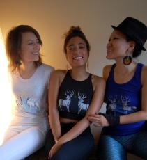 Bethany, Myra & Hiroka in Stag Elevation print