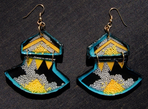 Abstract City earrings
