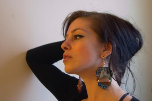 Josie in Lion-Ness earrings