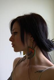 Josie in Geometric Horizon earrings