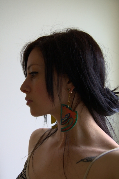 Josie in Geometric Horizon earrings