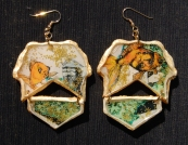 Goldfish Alphabet earrings