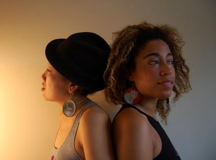 Hiroka in Deer Invasion earrings & Myra in Leopard Portrait earrings