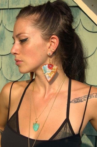 Josie in Pulse earrings