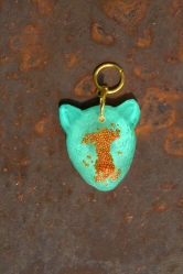Mint Copper Leopard pendant