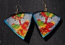 Leopard Rose earrings