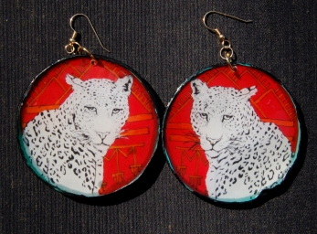 Leopard Portrait earrings