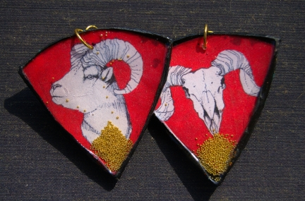 Ram Life Cycle earrings