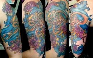 custom octopus 1/2 sleeve