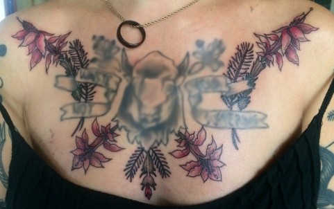 custom christmas cactus added on to existing chest piece