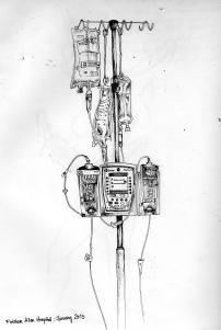 1 Fletcher Allen Hospital IV pole.Burlington.January.2013